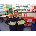 P1 Miss Guiney with Liam & Charlie