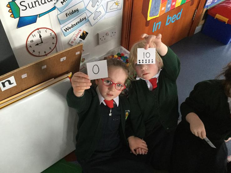 Ellen and Isla paired up as number bonds to 10.