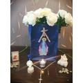 Ella's beautiful May Altar.