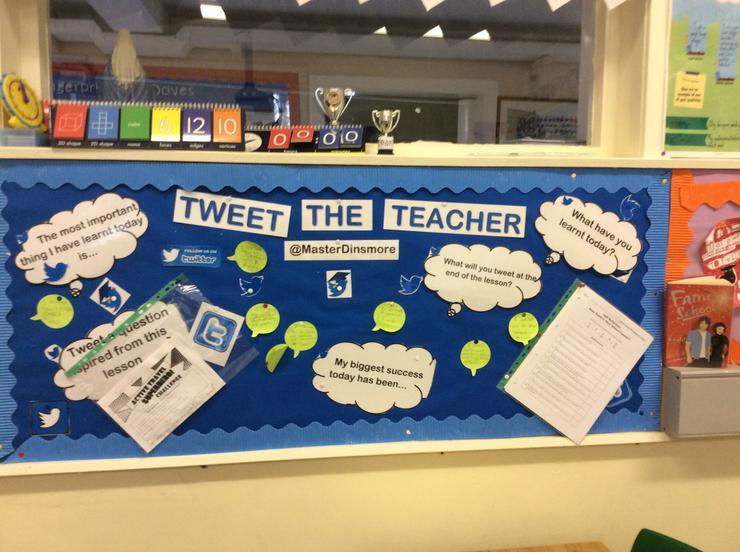 Tweet the teacher comments board
