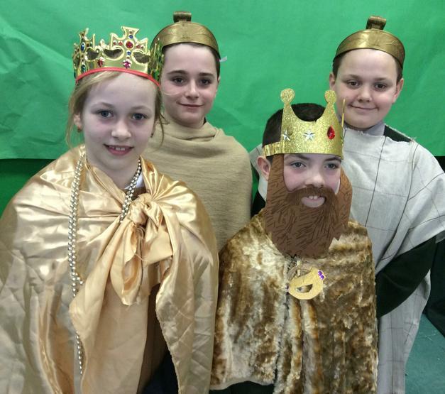 The Navan Dragon Scene 1 using green screen.