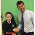 Principal Award P7 Caitlin