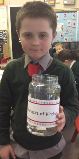 Darcy with 'act of kindness' jar.