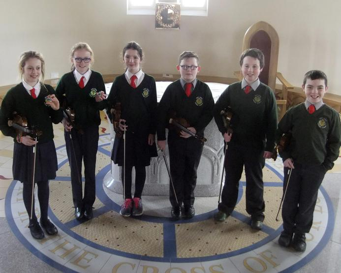 Primary 7 violinists who entered Warrenpoint Feis