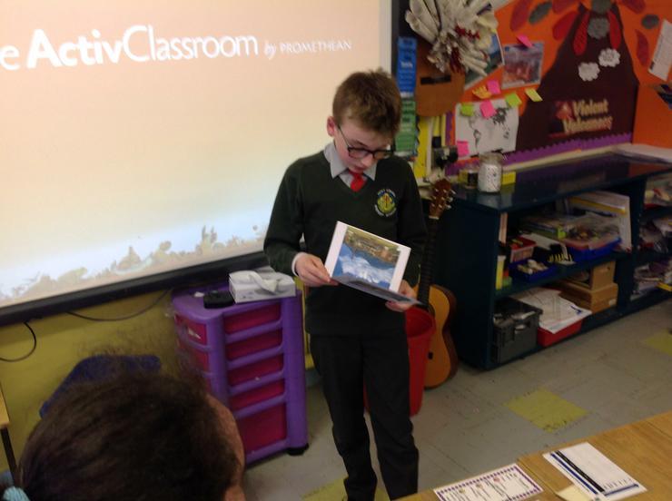 Daniel shows his Tourist Guide of Pompeii!