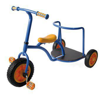 Trike for two Co-operative play. Heavy duty