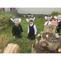 We heard the creatures in the garden
