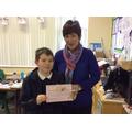 P7 Mrs Trainor with Aryn
