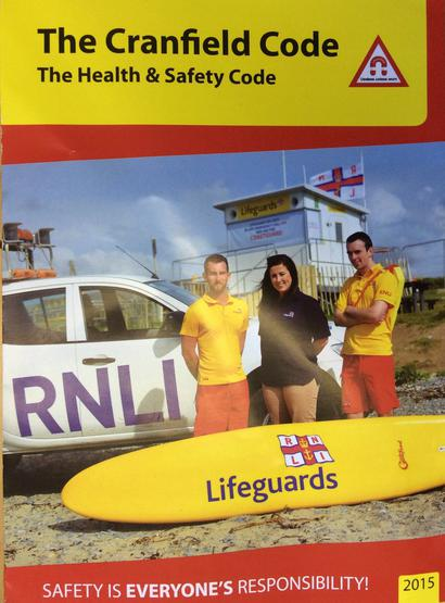 Cranfield Beach safety leaflet for each pupil