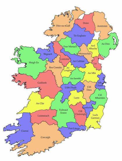 County names in Irish