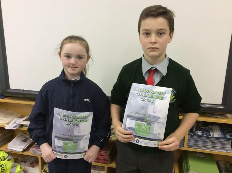 Caoimhe and Stephen at the Technology Challenge