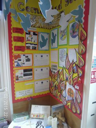 Class 2 Pentecost display