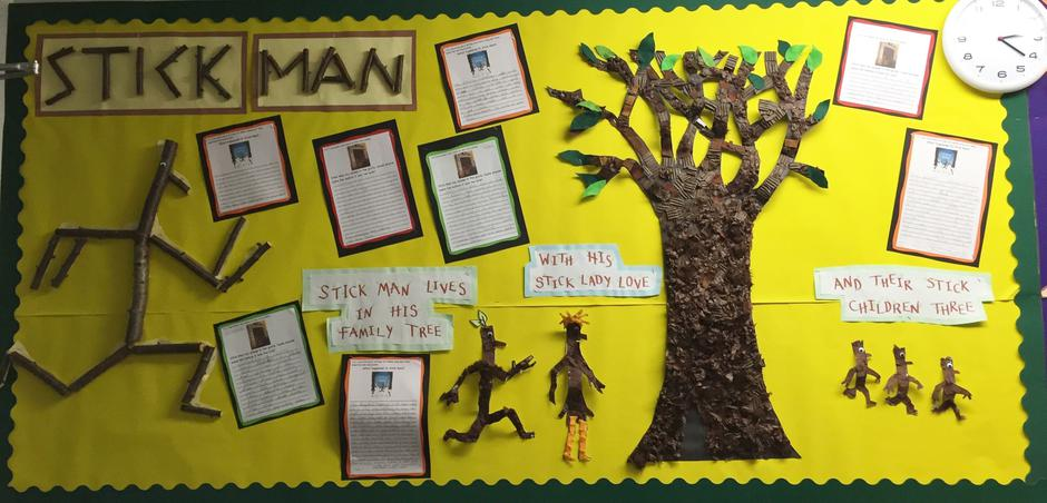 Stick Man Miss Jeeves - Infant Library - Class 3