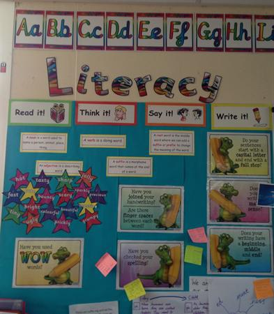 Literacy display - Class 3