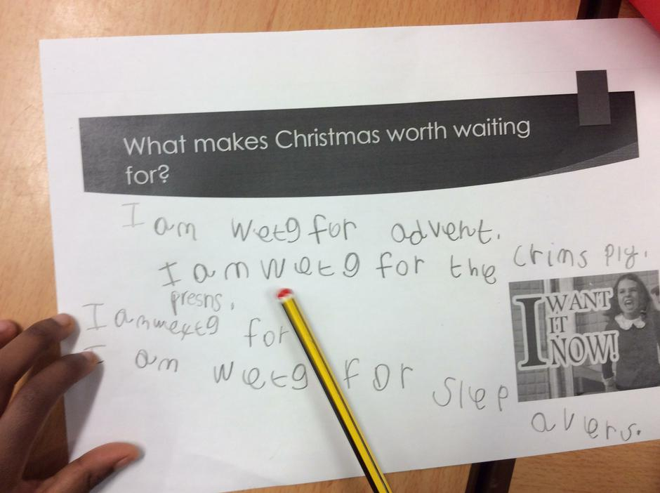 We are using our writing skills across the curriculum