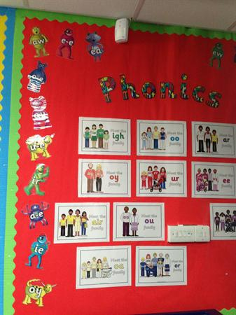 Phonics display - Class 2
