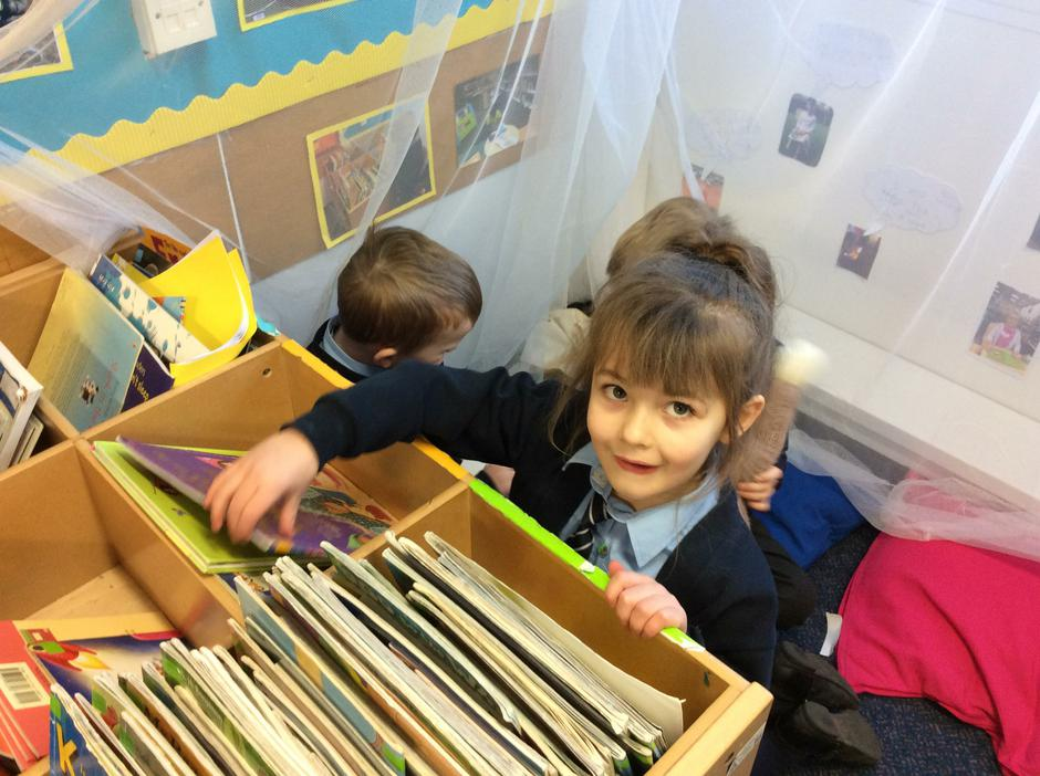 We love reading in challenge time