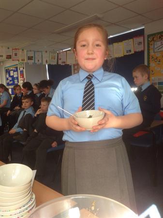 We made Roman Pottage and Svelt bread.