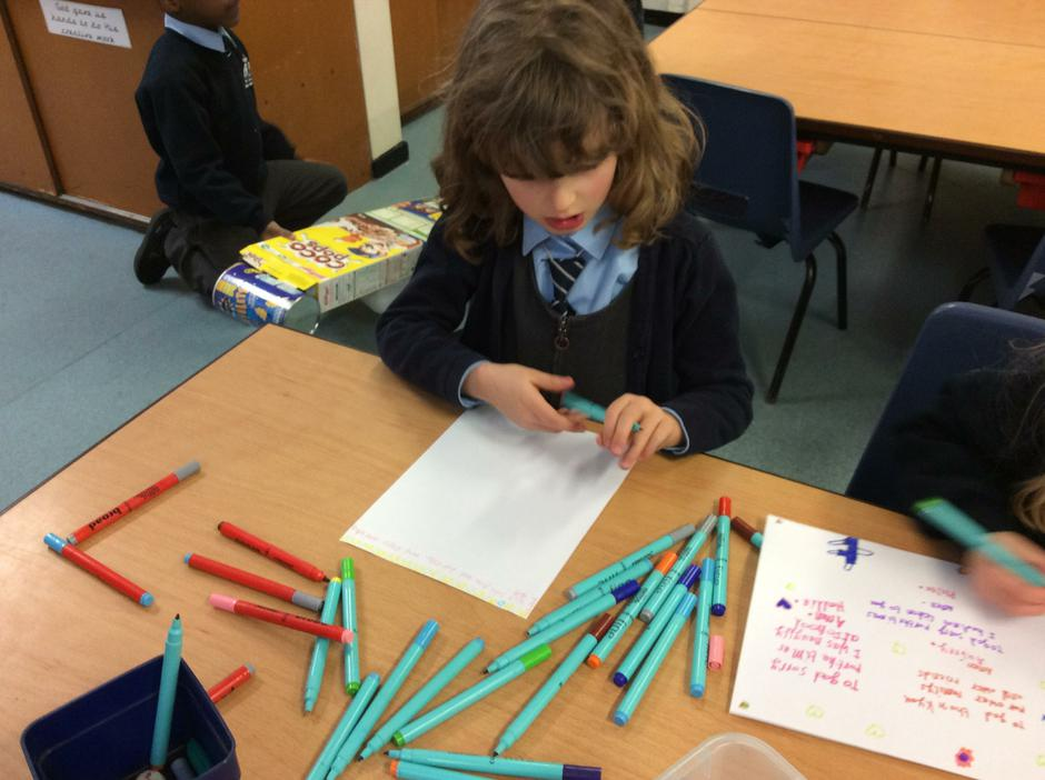 We write using lots of resources