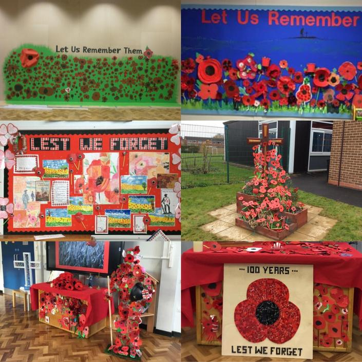 2020 - Holy Cross Remembers 2014 - 2018  school artwork