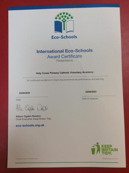Our Green Status Certificate