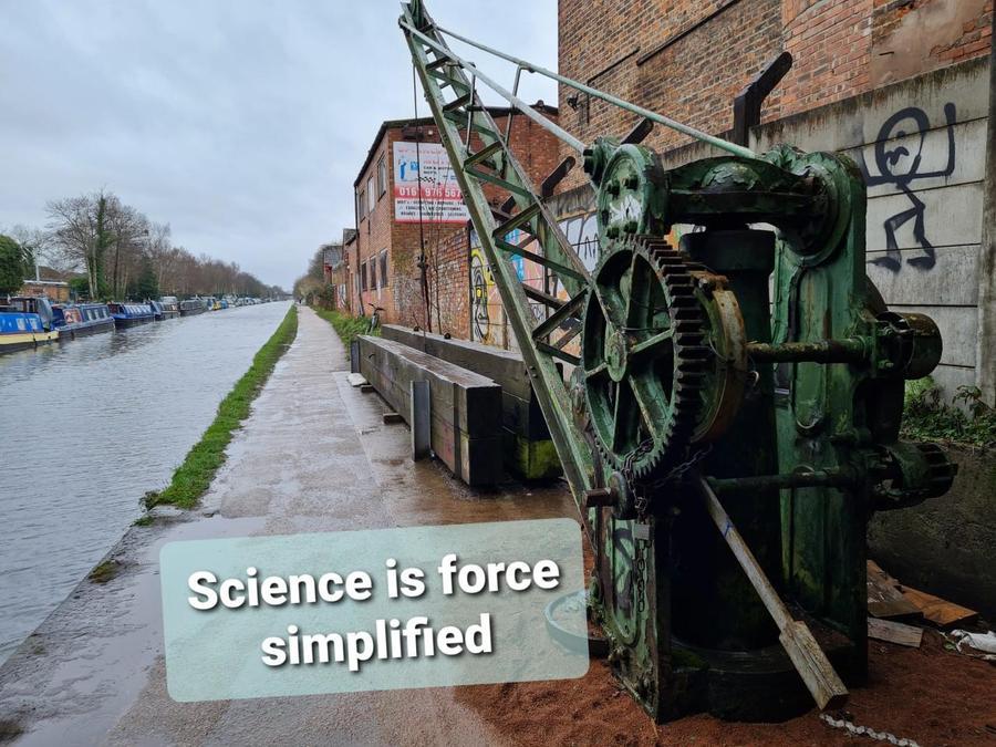 """Science is force simplified"" by Thiago in Nursery"