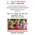 Bring in jars on 12th December