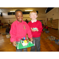 Yr 1 are delighted with their completed houses.