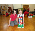 Y3 children complete their multi-story house.