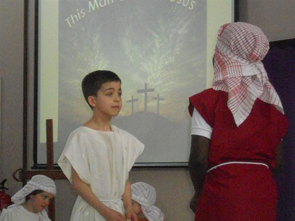 Jesus talks to Peter