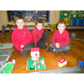 Y2 children are proud of their lego house.