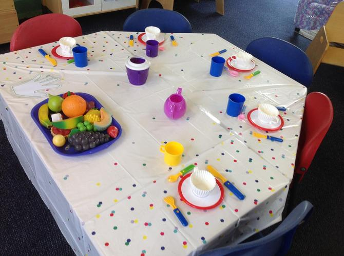 Have a tea party in our shared classroom.