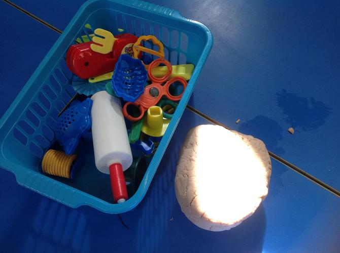 Use the playdough in our shared classroom.