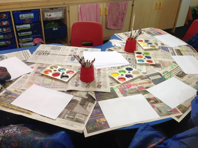 Paint a picture in our shared classroom.