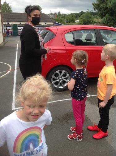 Miss Sahota comes to check her car.