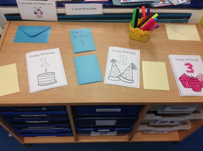 Writing birthday cards
