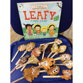 We made Leafy puppets