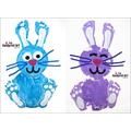 Footprint Easter Bunny Paint Craft