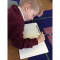 We are trying hard with our letter formations