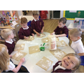We learnt where flour comes from and made bread