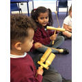 We have had fun in music lessons with Mrs Shabbir