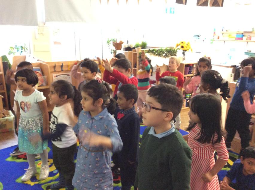 Moving to the music in EYFS.