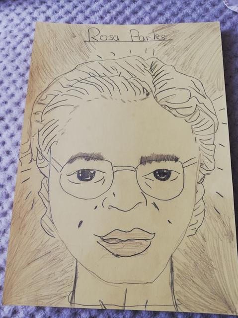 Wonderful portrait of Rosa Parks!