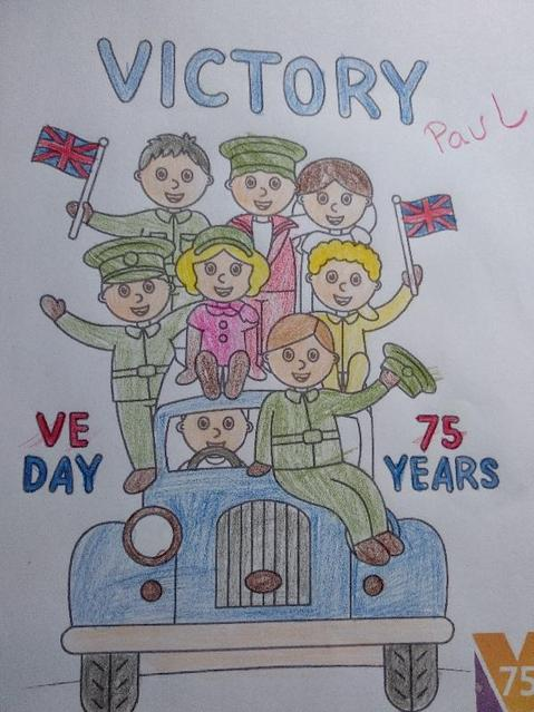 VE Day colouring
