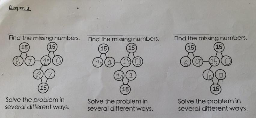 Partition 15 puzzle