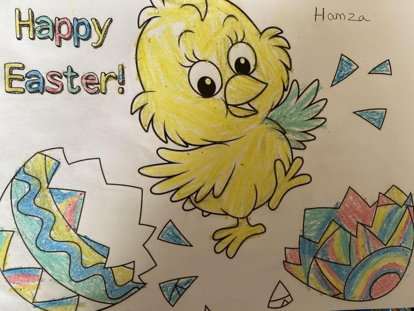 Happy Easter colouring
