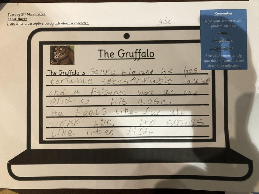 Another wonderful profile describing the Gruffalo