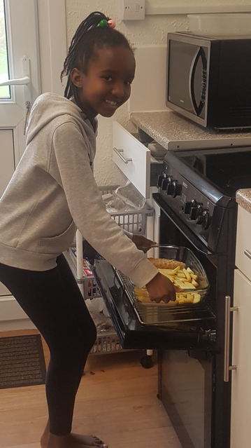 Helping out in the kitchen! :)