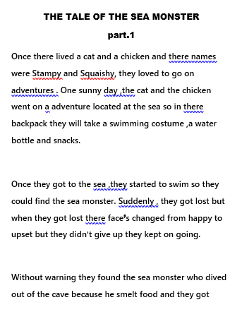 The Tale of the Sea Monster