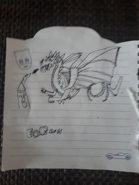 A super sketch of a dragon!